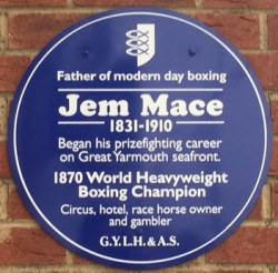 Blue Plaque to Jem Mace, Marine Parade, Great Yarmouth