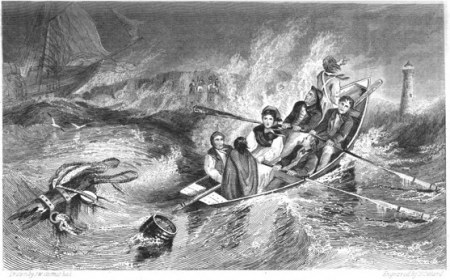 Grace Darling and her Father returning from the Wreck of the Forfarshire